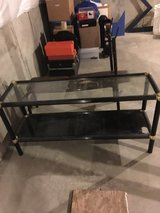2-tier glass table in Naperville, Illinois