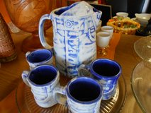Denim Pitcher & mugs in Cherry Point, North Carolina