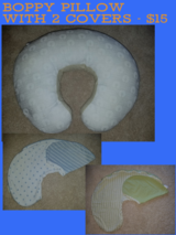 Boppy Pillow with covers in Algonquin, Illinois