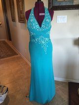 Homecoming Bella By Venus Formal Dress Ball Wedding Prom Sz 4 6 8 (see measurements) Turquoise R... in Kingwood, Texas