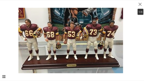 Redskins Hogs figurines in Fort Campbell, Kentucky