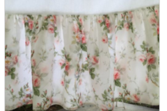 Ralph Lauren Shabby Chic Bed Skirt Queen Floral 15 Drop Cottage Pink Flowers in Ramstein, Germany