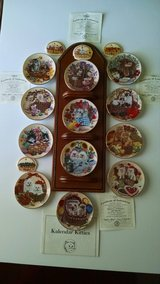 Kitty Wall Art/Mini Kitty Plates with Holder/Bradford Exchange in Algonquin, Illinois