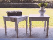 White End Tables - Shabby Chic - Coastal - Country in Hinesville, Georgia