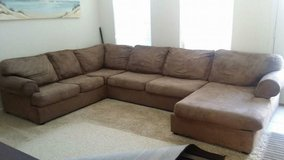 Microfiber sectional couch in Fairfax, Virginia