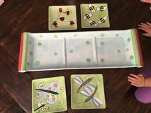 Butterfly/lady bug snack tray and plate in Fort Rucker, Alabama