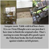 $70.00Antique table it's been clean one chair broke.  the arm o... in Lackland AFB, Texas