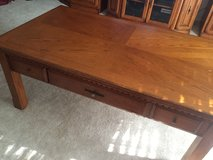 Solid oak coffee and end table set in Fort Polk, Louisiana