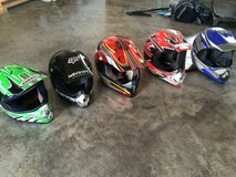 5 Dirt Bike Helmets (3 adult, 2 child) in Elizabethtown, Kentucky