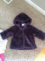 "Infant Girls Purple Winter ""Fur"" Coat-6/9 months-GUC in Chicago, Illinois"