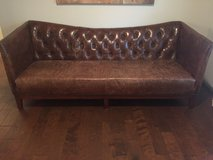 3 seat leather sofa and chair in Conroe, Texas