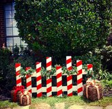 Christmas Fence in Conroe, Texas
