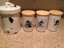 Kitchen canister. Cat themed in DeKalb, Illinois