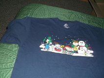 snoopy navy blue shirt with most of the gang in Alamogordo, New Mexico