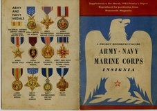 Readers Digest 1943 Army, Navy, Marine Corps Insignia booklet in Okinawa, Japan