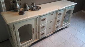 Metallic Oyster TV Stand/ Entry Cabinet in Kingwood, Texas