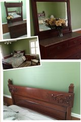 REDUCED Antique bed & dresser Eastlake Victorian in Hinesville, Georgia