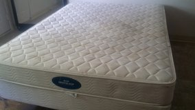 Queen size mattress with box spring and frame in Fort Polk, Louisiana