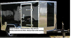 Motorcycle Enclosed Cargo Trailer 5 x 8 V-nose with Ramp in Warner Robins, Georgia