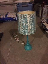 Turquoise lamp in Camp Lejeune, North Carolina