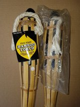 2 New  5 foot tall Bamboo Tiki type torches with snuffer cap (New in package) in Oswego, Illinois