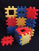 "Little Tikes Waffle Blocks Medium Size 8""x8""set#1 in Naperville, Illinois"