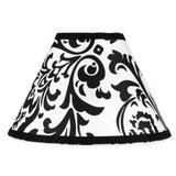 Two matching Black and White Paisley printed lamp shades (New, never used) in Joliet, Illinois