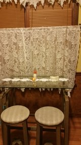 Glass Table w/ two stools in Joliet, Illinois