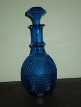 blue liquor decanter - italy in Oswego, Illinois