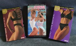 Lot of 3 VHS Workout Tapes by The Firm and NAC (National Aerobics Champions) in Lawton, Oklahoma