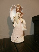 Angel with flowers figurine-foundations by Karen Hahn in Cleveland, Texas