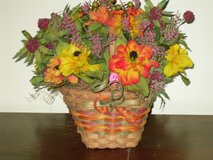 fall flower basket in Naperville, Illinois