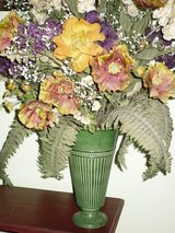 "flowers in urn-28""h x 25""w in Oswego, Illinois"
