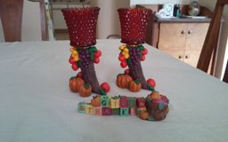 Thanksgiving Candle Holders & Give Thanks Decor in Conroe, Texas
