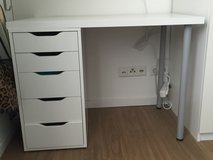 Small White Desk with Drawers in Stuttgart, GE