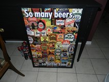 Man Cave Beer wall hanging in Oswego, Illinois
