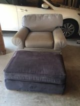 Chair and matching ottoman - Good/Fair Condition in Houston, Texas