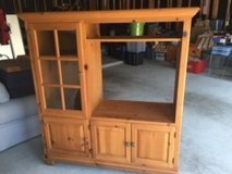 Pine TV & Stereo Entertainment Center - Good Condtion in Houston, Texas