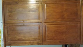 Solid Teak Wood Entertainment Center in MacDill AFB, FL