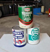 Old Oil Cans From The 60's and 70's in Spring, Texas