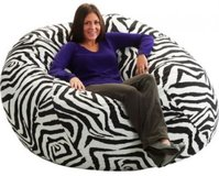 King 5' Fuf Bean Bag , Zebra in Conroe, Texas