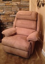 Lazy Boy Recliner, Beige Microsuede in Houston, Texas