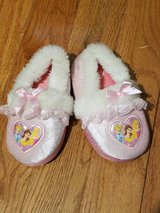 Disney Princess slippers - size 9-10 Excelent condition in Plainfield, Illinois