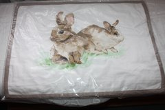 PASTURE SPRING BUNNY PRINT LUMBAR PILLOW COVER in Ramstein, Germany