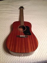 Walden 6 string acoustic guitar with case, like new! in Houston, Texas
