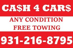 CASH FOR CARS in Fort Campbell, Kentucky