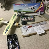 RC airplanes (2) and kit (1) with electric motors, controllers, batteries and various parts in Philadelphia, Pennsylvania