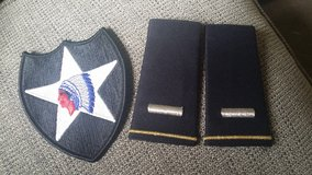 2nd ID patch and 1LT shoulder ranks for ASU in Olympia, Washington
