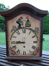 Hand painted Black Forest Schnaps Clock in Ramstein, Germany