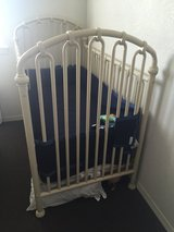 Beautiful Rod Iron Crib and matching changing table in Travis AFB, California